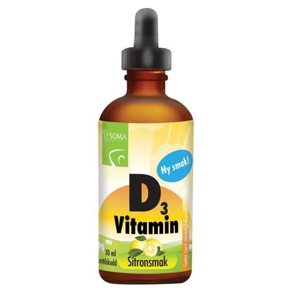 Bilde av D3-vitamin med sitronsmak 30ml / SOMA