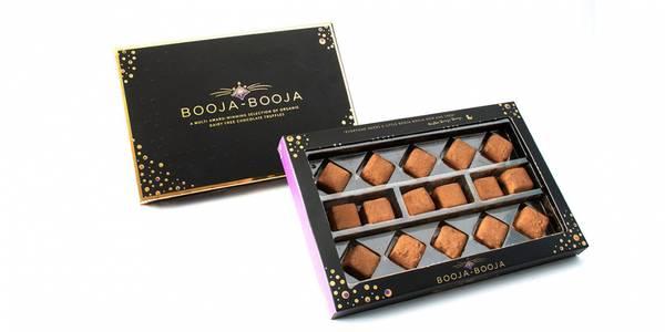 Bilde av Veganske sjokoladetrøfler 184g / Booja Booja