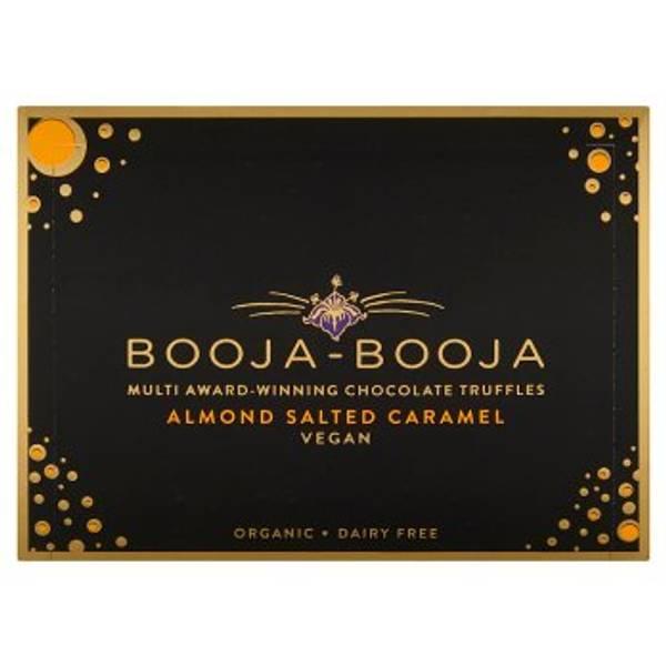 Bilde av Veganske trøfler, salt karamell & mandler 92g / Booja Booja