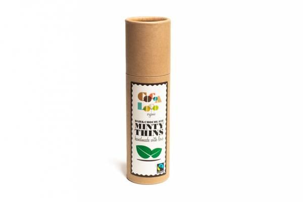 Bilde av Runde sjokoladebiter med mint på pappboks, vegansk 170g / Cocoa