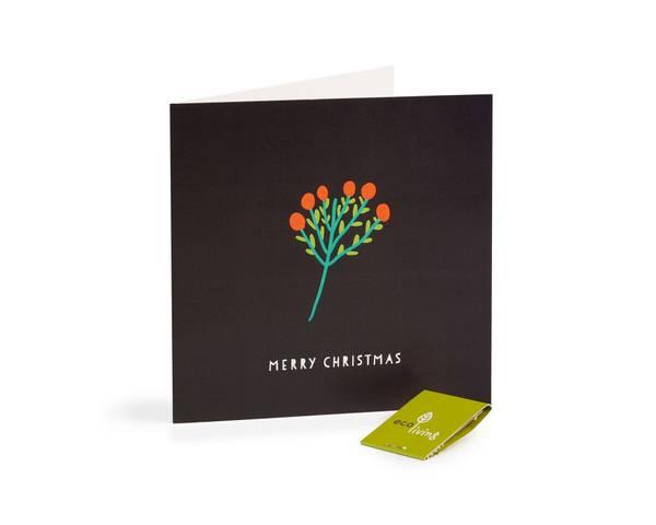 Bilde av Mistletoe resirkulert julekort m/konvolutt