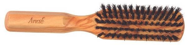 Bilde av Plastfri hårbørste i oliventre, smal / Anaé