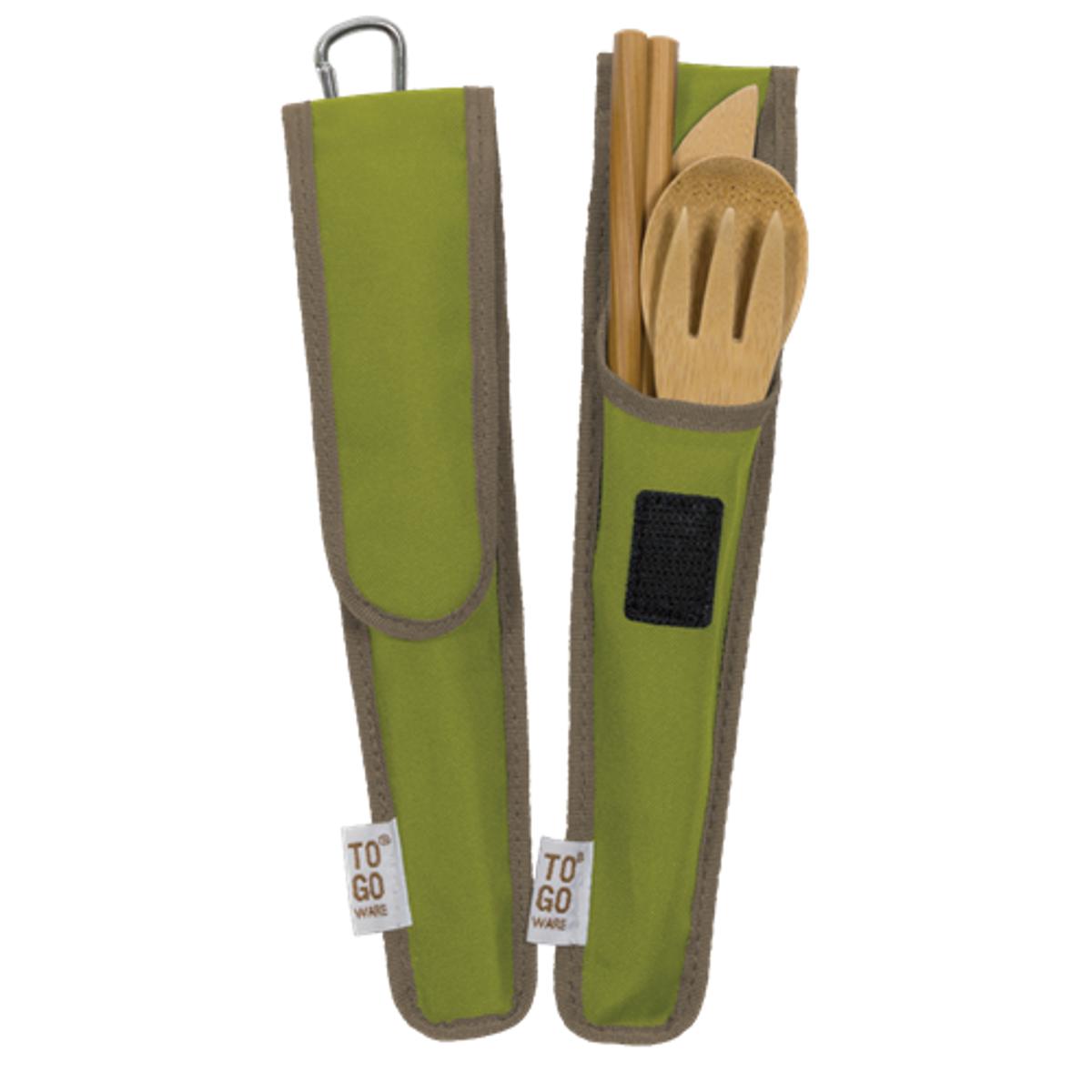 Reisebestikk i bambus, Avocado / To-Go Ware