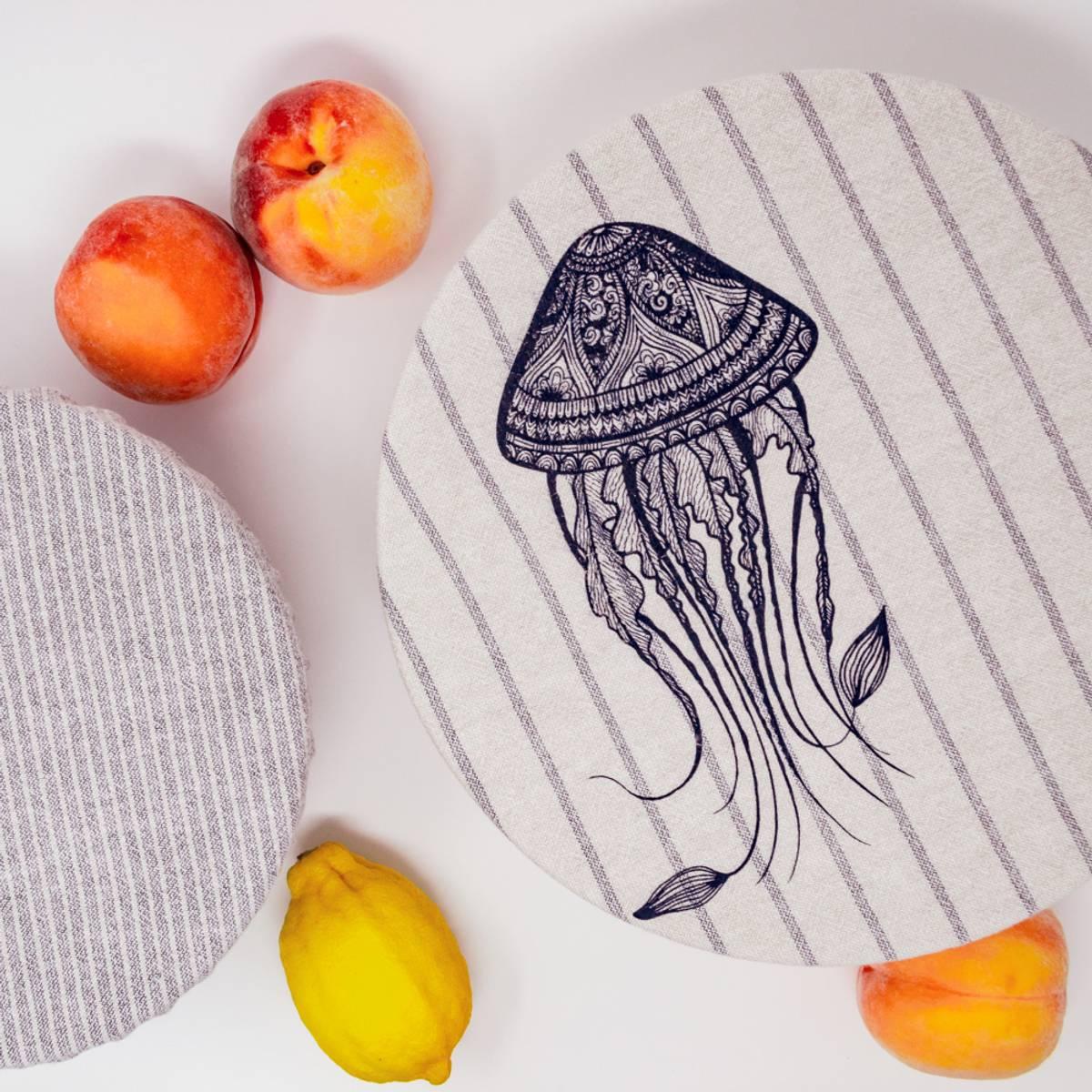 str. M/L 2-pk bolletrekk // Jelly fish & Stripes