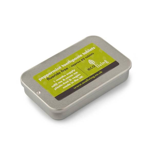 Bilde av 62stk tannkremtabletter uten fluor, tinnboks / ecoLiving