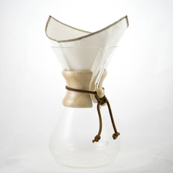 Bilde av CoffeeSock® 2-pk kaffefilter Chemex  6-13 kp, økologisk bomull
