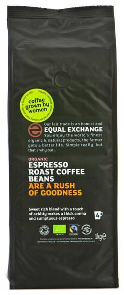 Bilde av 1kg espressobønner, økologisk / Equal Exchange