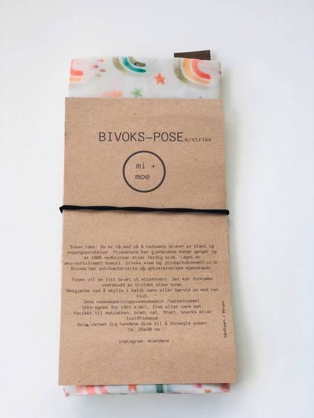 Bilde av Bivokspose med strikk, Regnbue / Mi + Moe