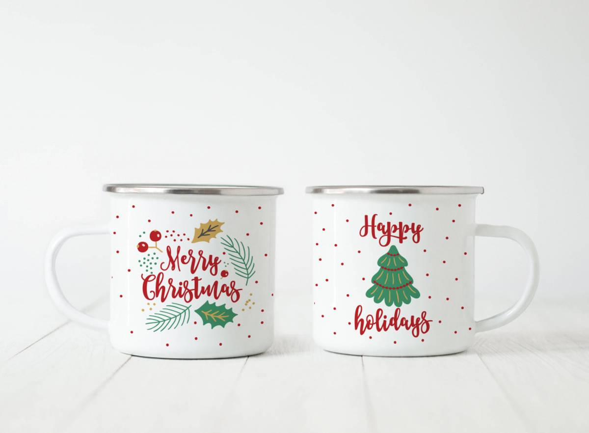 2 stk emaljerte julekurs/ Digibuddah
