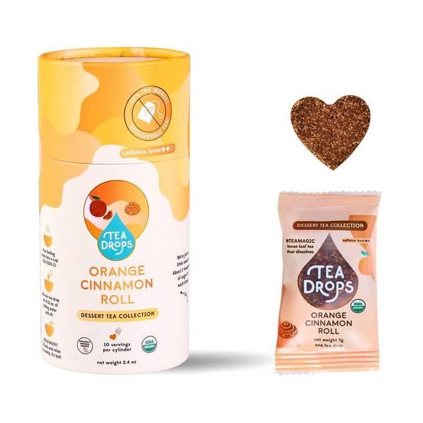 Bilde av 10 stk Orange Cinnamon Roll, økologisk te i tube / Tea Drops