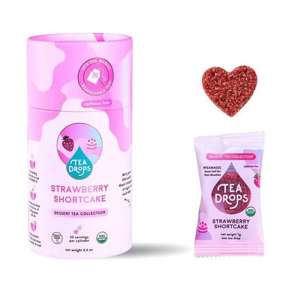 Bilde av 10 stk Strawberry Shortcake, økologisk te i tube / Tea Drops